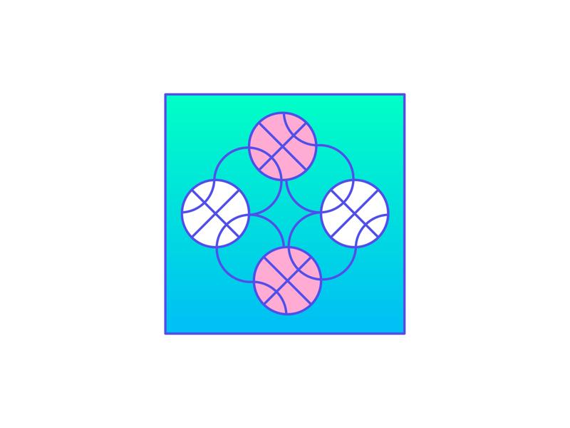 Endless loop of Basketball lines flat creative character art animation app 3d web design ui graphic design pattern illustrator design branding icon illustration basketball vector logo color