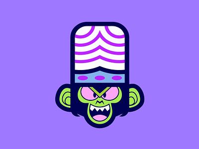 MOJO cartoon vector logo illustrator illustration icon graphic flat app design creative color character branding art app animation powerpuff girls