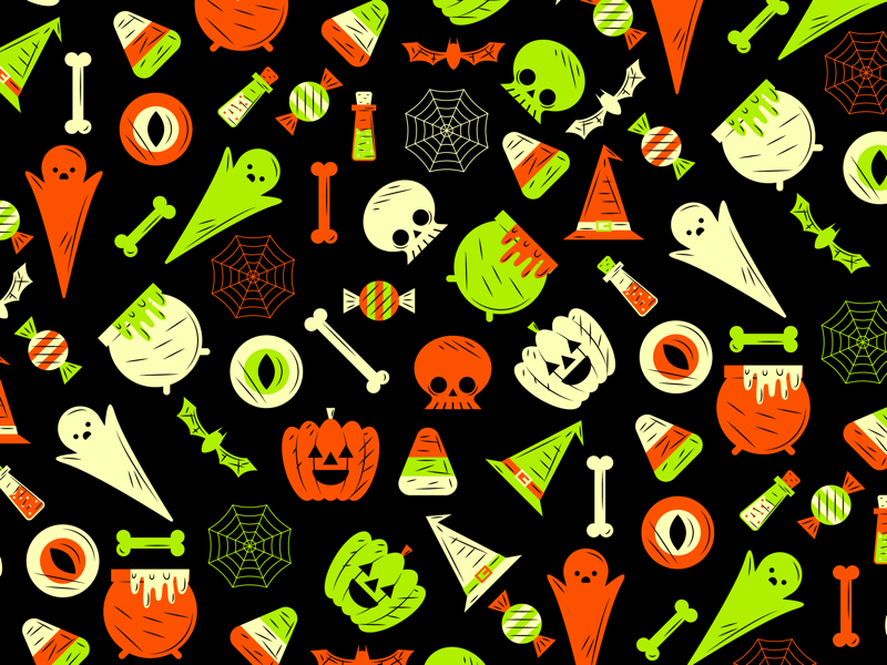 Halloween Pattern halloween flat creative character art animation app collage web design ui graphic design pattern illustrator design branding icon illustration vector logo color