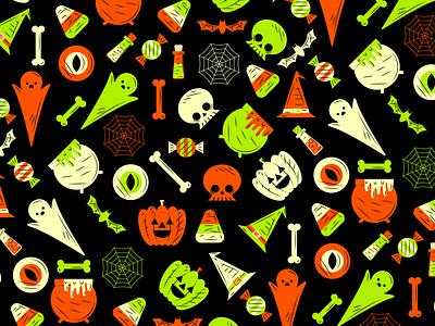 Halloween Pattern halloween flat creative character art animation app collage web design ui graphic design pattern illustrator design branding icon illustration vector logo color