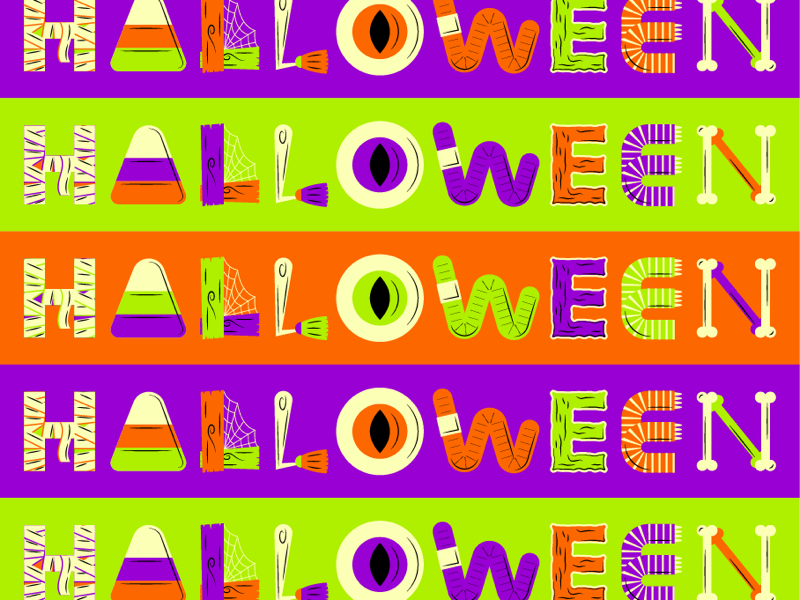 Halloween halloween flat creative character art animation app collage web design ui graphic design pattern illustrator design branding icon illustration vector logo color