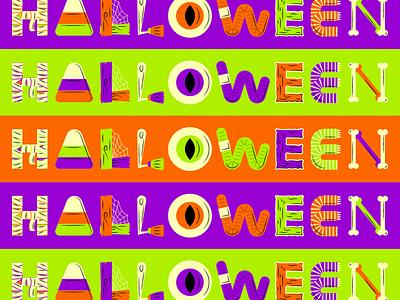 Halloween halloween flat creative character art animation app collage web design ui graphic design pattern illustrator design branding icon illustration vector logo color