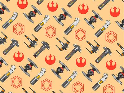 Star Wars Pattern 1 flat creative character art lightsaber app 3d web design ui graphic design pattern illustrator design branding icon illustration star wars vector logo color