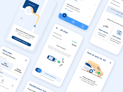 Navipay App Overview naviparking navipay qr parcel navi navigation delivery last mile smart city smart mobility parking app parking ux ui logo design mobile app animation