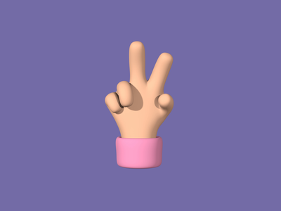 3D Hand Gestures Animation cartoon middle finger fu rock on like peace handy gestures gesture emoji hand 3d animation 3d animation