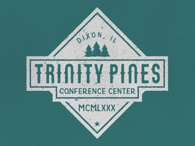 Trinity Pines washed trees pines shirt design camp vintage