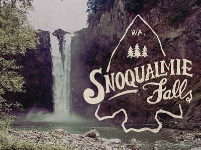 Snoqulamie Falls typography nature falls snoqualmie northwest pacific washington