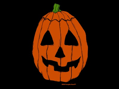 Pumpkin Head horror jack o lantern season of the witch illustration mask halloween pumpkin