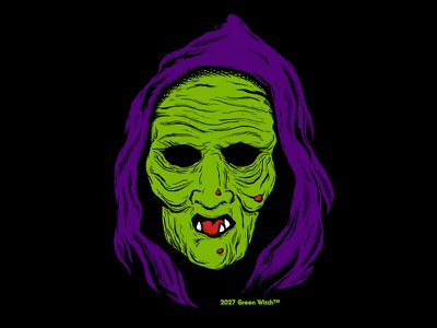 Green Witch season of the witch halloween iii green witch horror masks illustration halloween witch