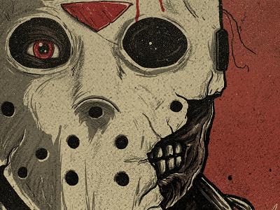 Jason magazine vintage illustration horror friday the 13th jason