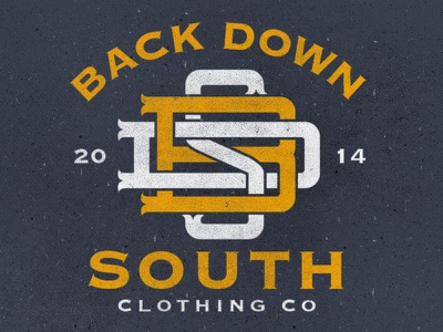 BDS Monogram clothing back down south typography monogram