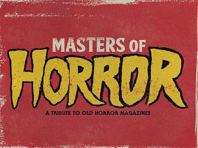 Masters Of Horror typography logo horror