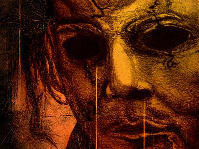 Halloween II illustration michael myers horror movie poster halloween 2 halloween