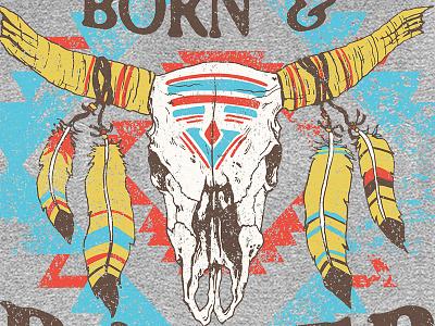 Aztec Skull tribal native american aztec skull longhorn