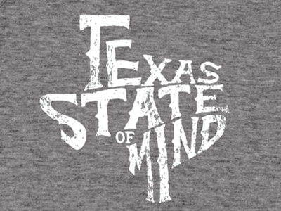 Texas State Of Mind shirt lone star state typography texas