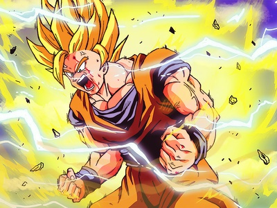 SS2 Goku dbz illustration saiyan anime dragonball z goku ss2 goku