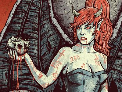 Demoness devil demon woman skull demoness