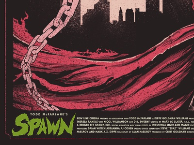 Al Simmons illustration horror hell comic movie poster spawn