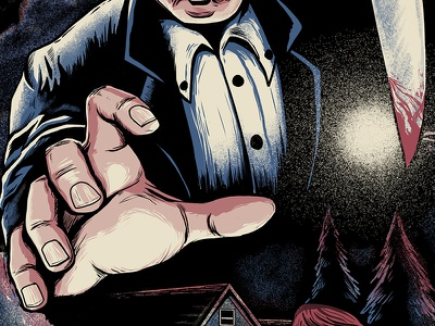 Watch Out! film illustration movie shirt horror
