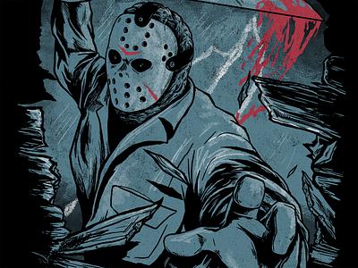 Jason illustration horror friday the 13th jason