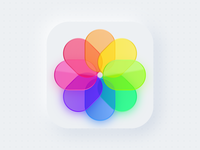Photos App Icon Exploration ios color logo 2d exploration neumorphism 3d texture glass illustrator vector app photos icon bigsur apple