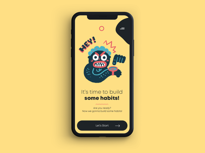Wake Up - Home Screen home screen ux mobile illustration clean ui design