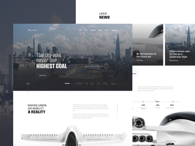 Lilium Jet - Air Taxi Homepage travel private jet aerotaxi clean ux taxi homepage web ui design