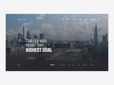 Lilium - Homepage Prototype animation travel taxi private jet homepage design clean aerotaxi