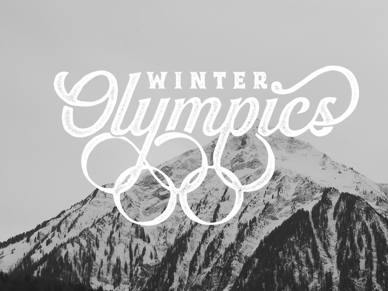 2018 Winter Olympics winter games winter olympics olympics create script typography type hand drawn type handlettering