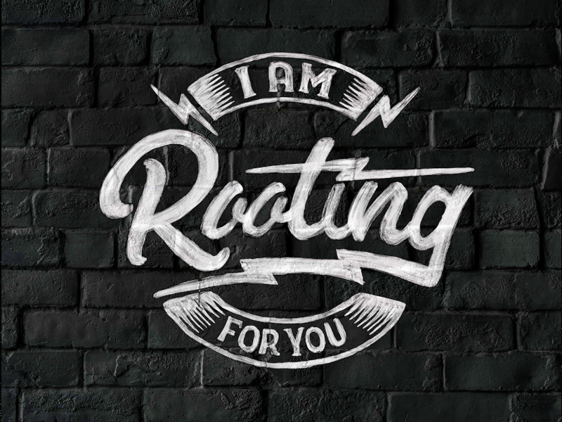 Rooting For You lightning bolts rooting for you cheer typography hand drawn type handlettering procreate app procreate