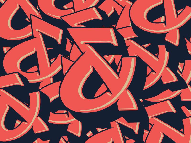 Ampersands logo type typography lettering logo ampersand