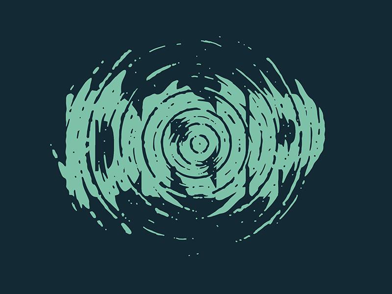 Drip circles procreate ripple ripples drip water handlettering