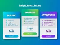DailyUI 030 - Pricing