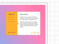 DailyUI 065 - Notes Widget