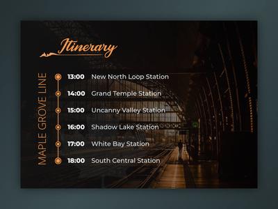 DailyUI #079 - Itinerary