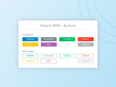 DailyUI #083 - Buttons