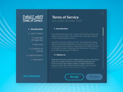 DailyUI #089 - Term Of Use