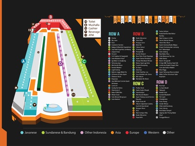Paskal Food Market Map