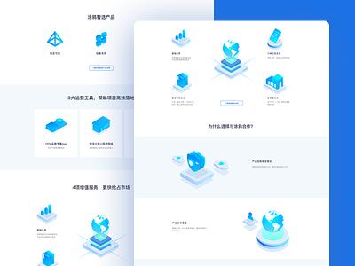 Landing Page ui branding website web design web illustration
