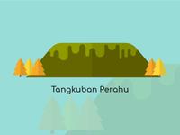 Bandung City Vector Tangkuban Perahu