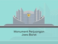 Bandung City Vector Monument Perjuangan