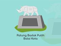 Bandung City Vector Patung Badak Putih
