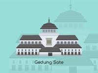 Bandung City Vector Gedung Sate