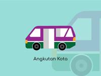 Bandung City Vector Angkutan Kota