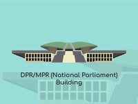 Jakarta City Vector - DPR/MPR(National Parliament) Building