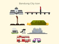 Bandung City of Indonesia Icon