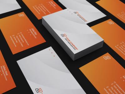Simple Professional Business Card 03 minimal branding art gradient web flat  design website ui character illustration building pattern ux typography logo graphic modern symbol icon vector