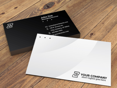 Simple Professional Business Card 03 animation graphic design flat design ui gradient website illustration character flat  design logo design typography branding art building graphic symbol pattern icon vector