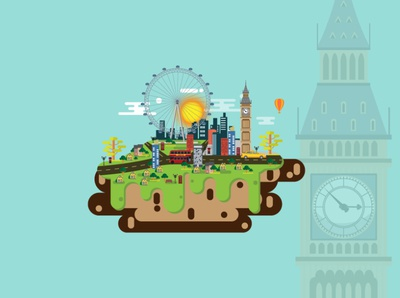 London City 03 of England Vector