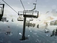 Winter Scenes #1 - La Masella shapes snow environment ski digital mountain concept illustration lightroom wacom photoshop